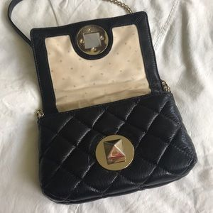 kate spade Bags - Kate spade quilted black leather crossbody